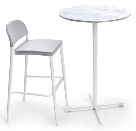 Summer set base 3, Base per tavolino da bar, forma di croce, per esterni