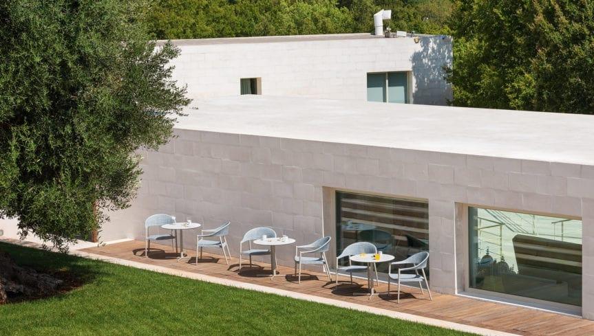 Summer set base low, Base per tavolino in acciao inox, per esterno