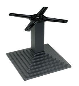 TG03 H.46, Base in ghisa per tavolo basso, per uso contract