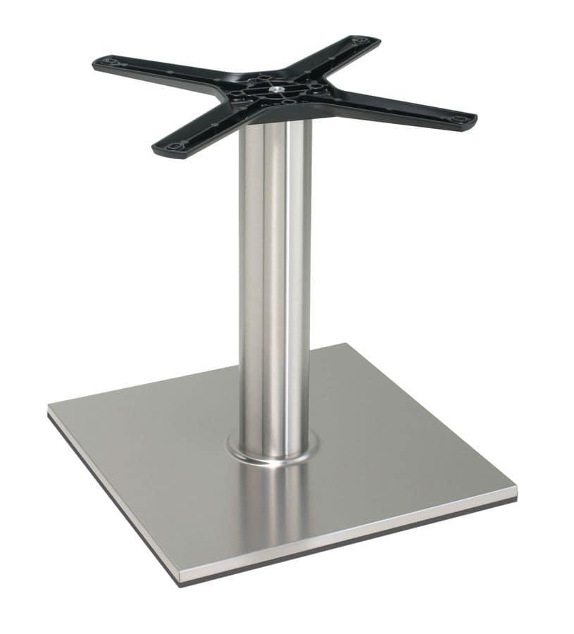 TG21 H.46, Base in alluminio per tavolo basso, forme lineari, per gelaterie e caffetterie