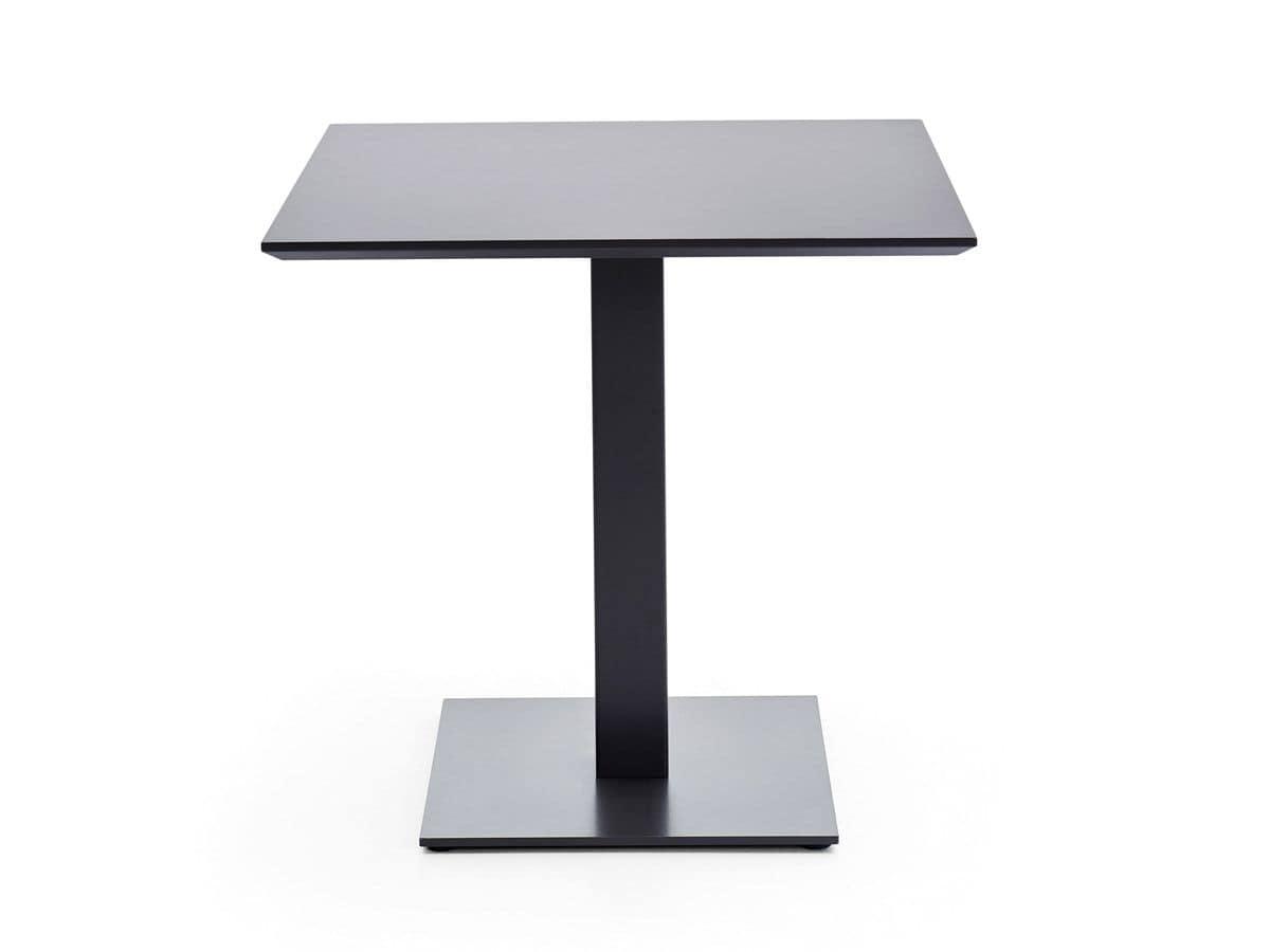 Base in acciaio quadrata per tavoli bar idfdesign for Piani d ufficio di 1200 piedi quadrati