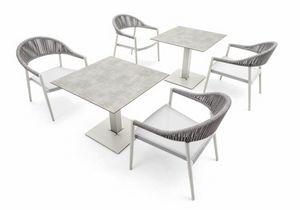 Tuxedo base low, Base tavolo per esterno, altezza 66 cm