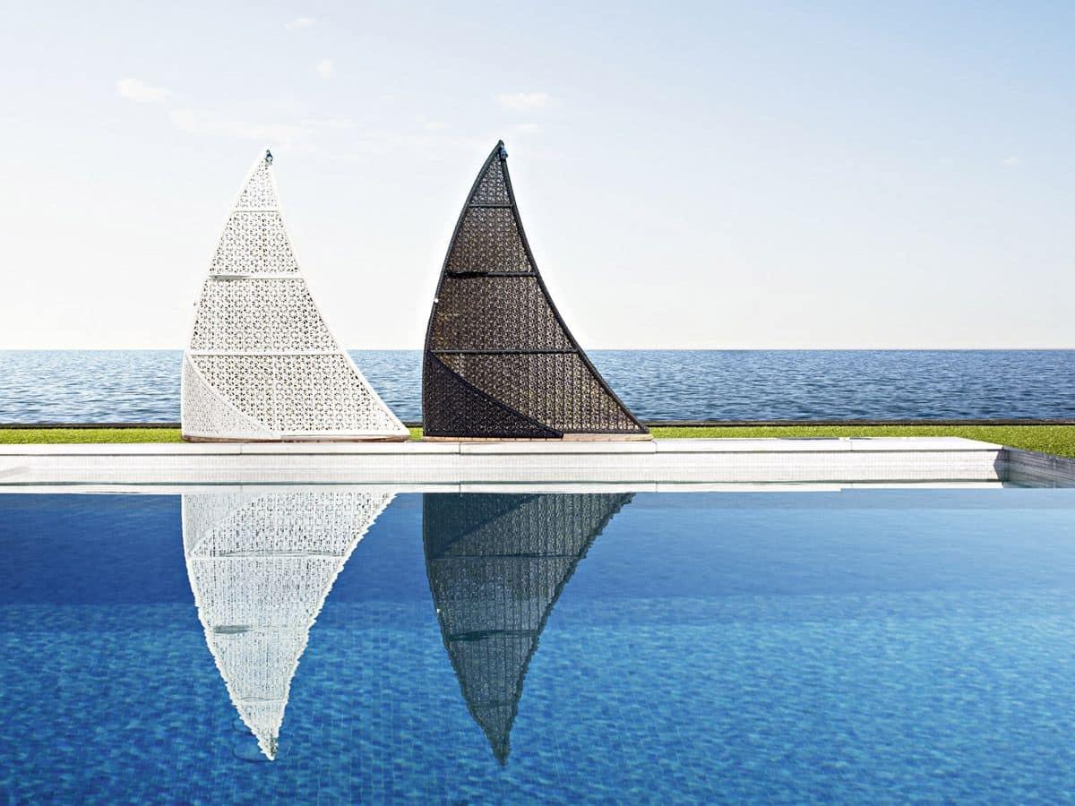 Altea doccia vela, Cabina doccia a forma di vela, per piscine e spiaggie