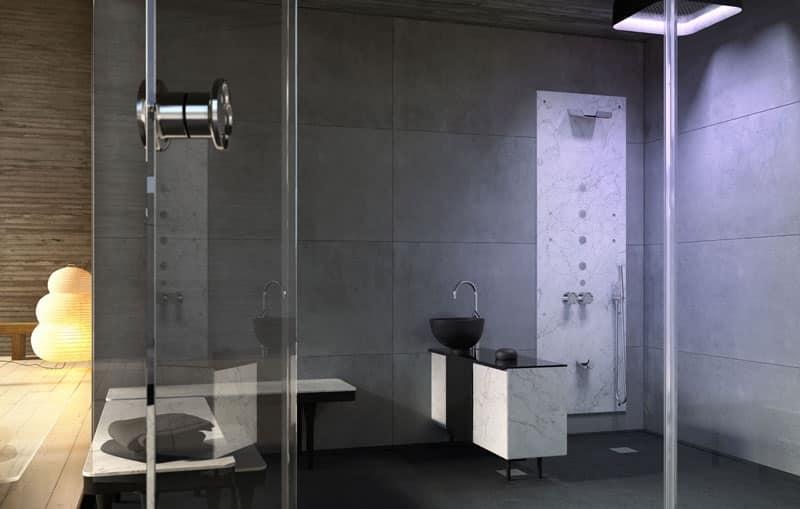 ANANDA, Spazio doccia modulare, su misura, per Centro benessere