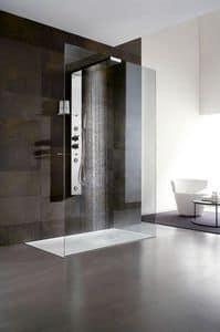 Bristol Box 1, Cabina doccia, con soffione e mensola, per bagno hotel