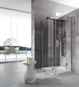 Bristol Box 4, Cabina doccia, con idromassaggio, per terme