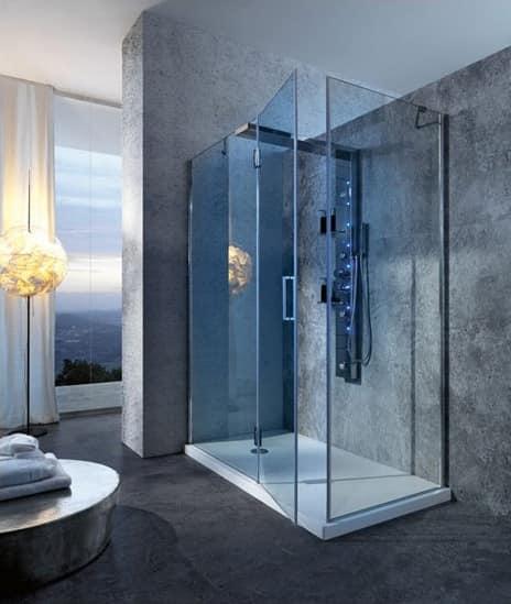 Bristol Box 5, Cabina doccia, con miscelatore, per bagno albergo