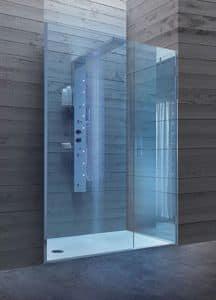 Bristol Box 8, Cabina doccia con porta in cristallo, per bagni alberghi