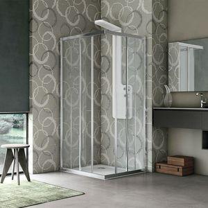 Easy, Box doccia, con profili in alluminio, per hotel