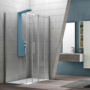 Flow, Box doccia in stile essenziale, per alberghi