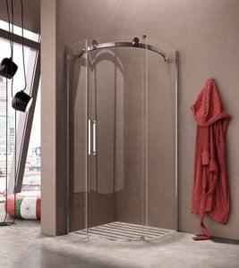 FLUIDA, Box doccia a parete, robusta, per bagno hotel