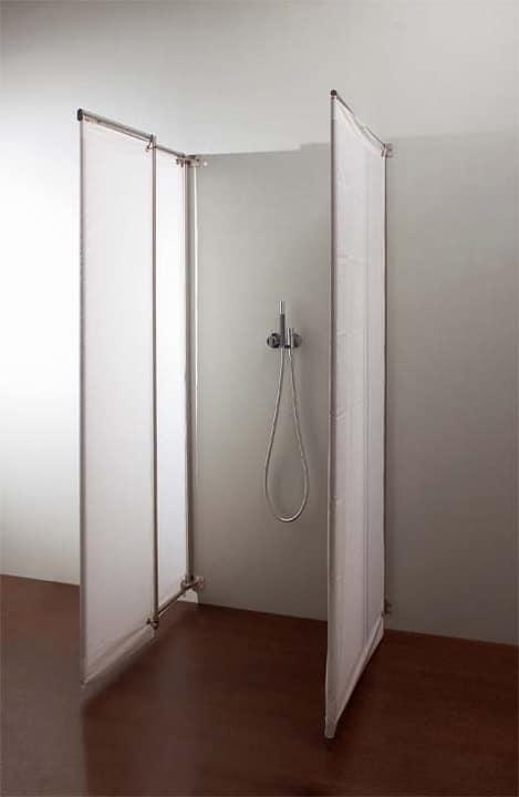 Ima, Cabina doccia in acciaio, porte in tessuto