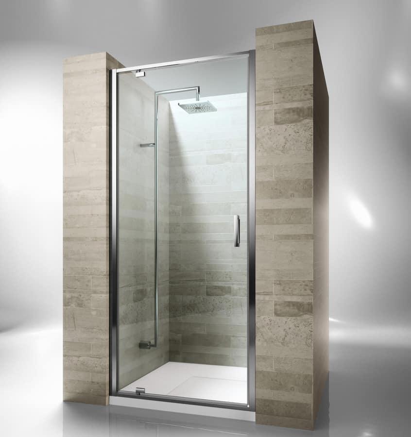 Cabina doccia intelaiata con porta girevole  IDFdesign