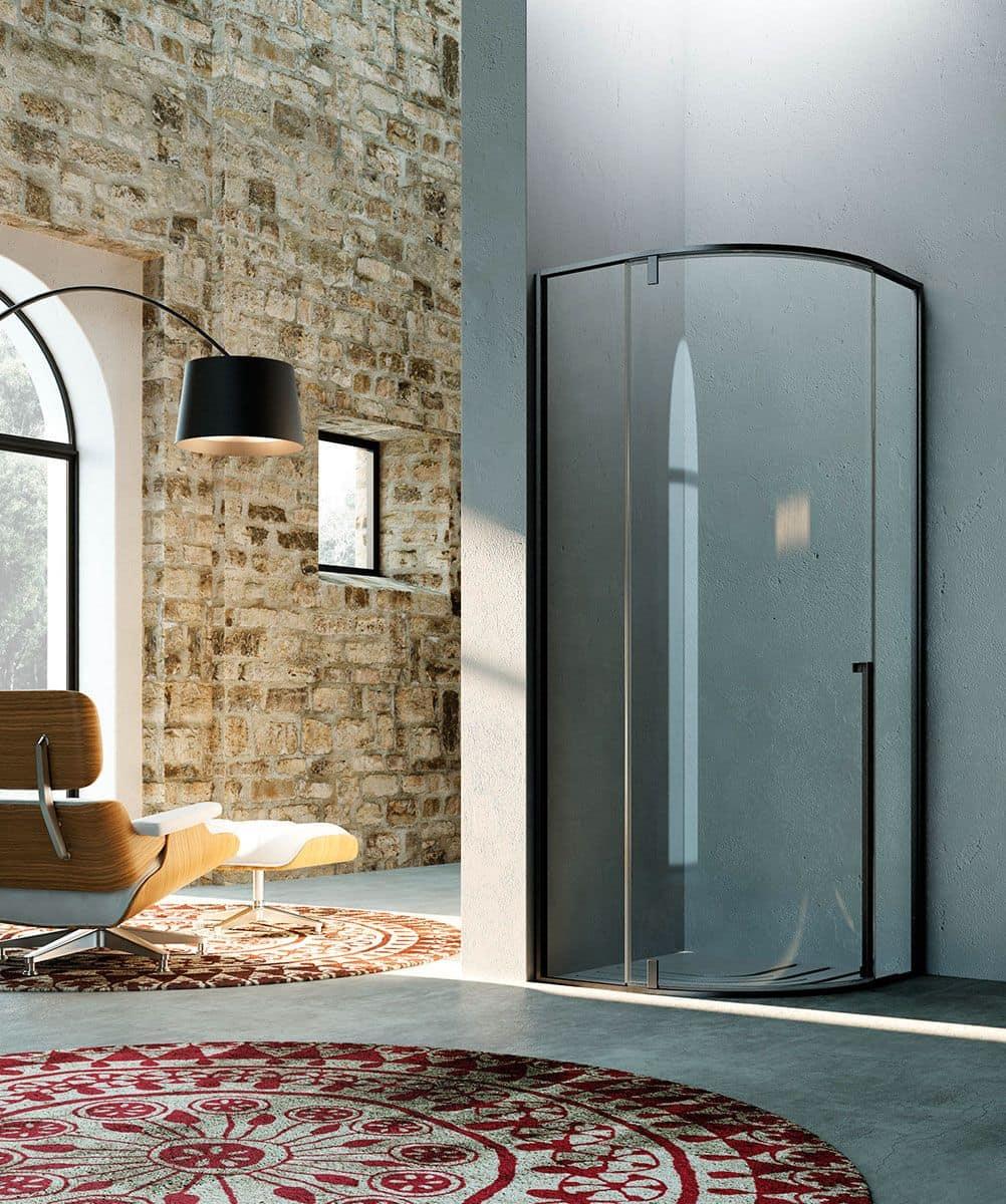 Cabina per doccia sistema pivot per bagno moderno for Doccia bagno moderno