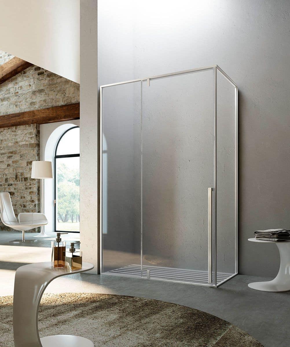 KAHURI, Cabina per doccia, sistema pivot, per bagno moderno