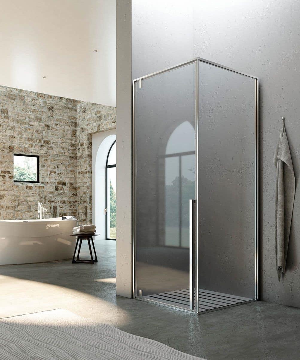 Cabina per doccia sistema pivot per bagno moderno idfdesign - Bagno moderno con doccia ...