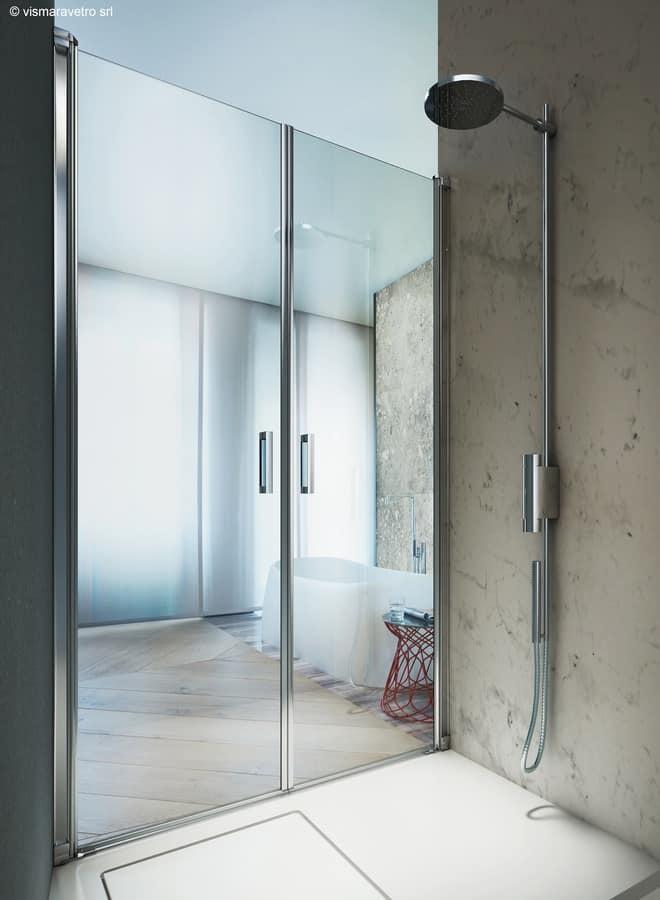 Cabina doccia senza telaio, con porte girevoli  IDFdesign