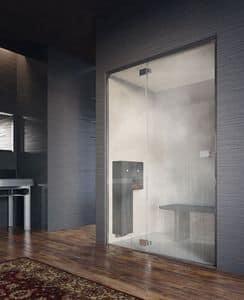NOOR DOOR, Cabina doccia, installazione a nicchia, trattamento anticalcare