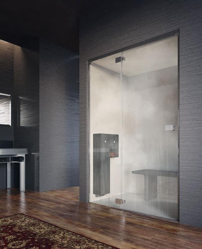 Cabina doccia, installazione a nicchia, trattamento anticalcare  IDFdesign