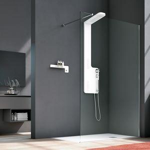 Side, Box doccia dal design essenziale, con chiusure magnetiche
