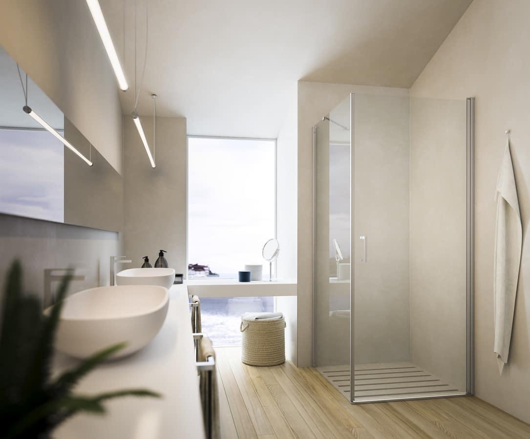 SOHO, Collezione di chiusure doccia, in cristallo temperato