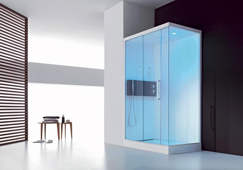 Cabina doccia multifunzione telecomando e display for Doccia multifunzione