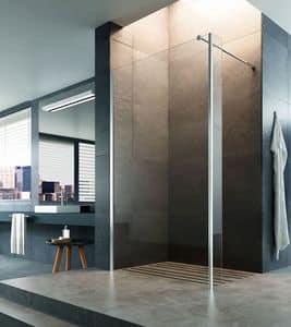 STEP-IN, Chiusura doccia walk-in, installazione a pavimento o su piatto