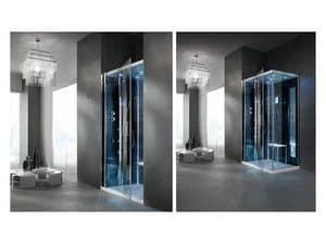 Arredi residenziali box doccia con idromassaggio rettangolari