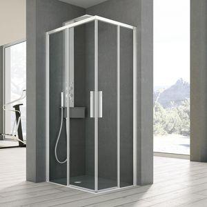 Time a angolo con 2 ante scorrevoli, Box doccia con 2 porte scorrevoli, per la casa