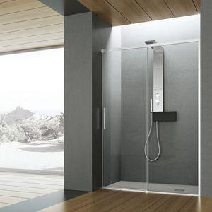 Time con porta scorrevole, Box doccia, con profili brill e vetri trasparenti da 8 mm