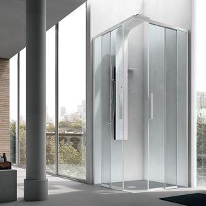 Top, Box doccia con porta scorrevole, con profili in alluminio