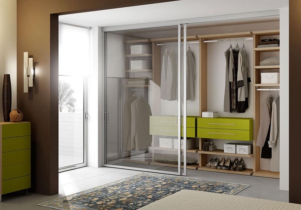 Cabina armadio in legno con 4 cassetti e scarpiera idfdesign for Arredo cabina armadio