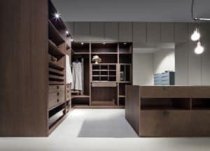 Immagine di ATLANTE comp.03, cabina armadio moderna
