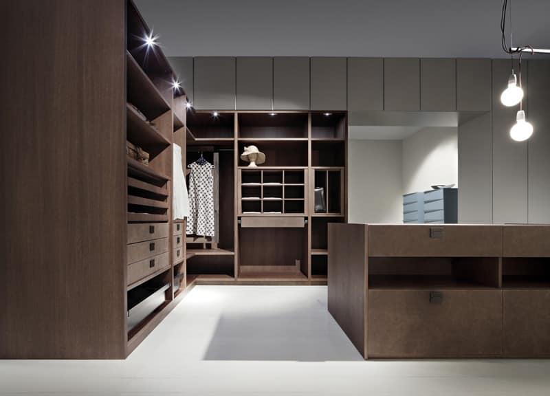 armadio moderno per camera da letto armadio ante in vetro per camera idfdesign. Black Bedroom Furniture Sets. Home Design Ideas