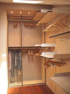 Cabina armadio 05, Cabina armadio in mansarda, su misura