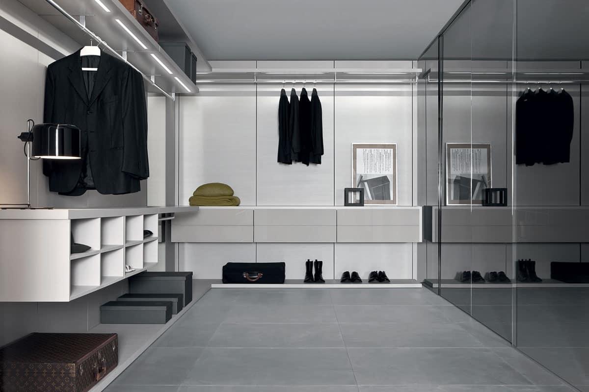 Cabina armadio per vestiti zona notte idfdesign - Ante per cabina armadio ...