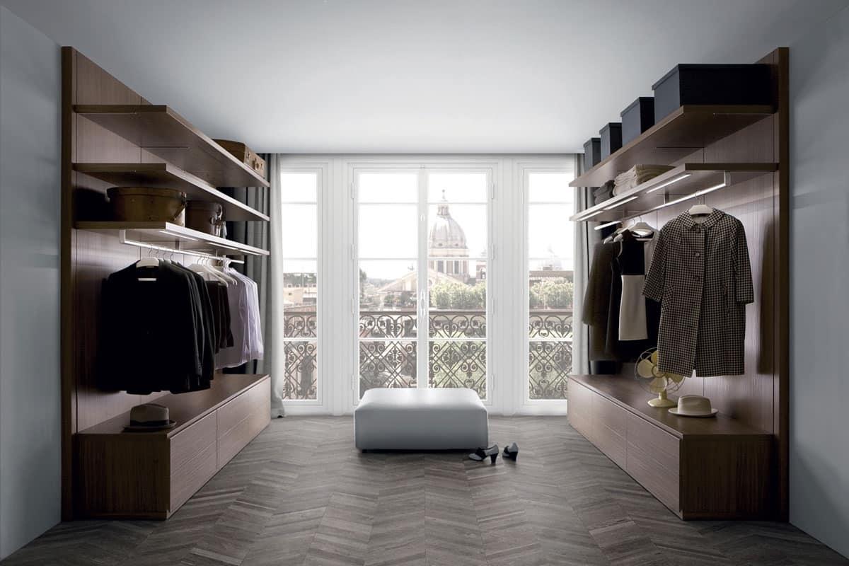 Cabina armadio per vestiti zona notte idfdesign - Bagno e cabina armadio ...