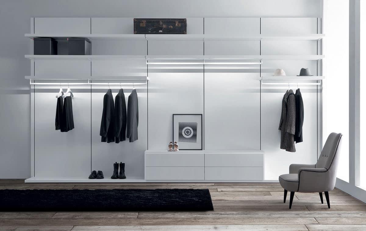 Cabina armadio per vestiti zona notte idfdesign - Cabine armadio design ...