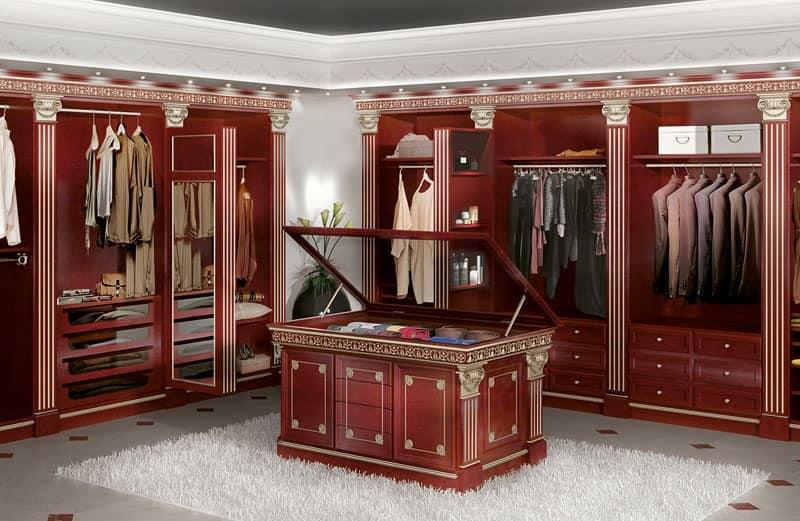 Cabina armadio modulare per albergo e casa di lusso idfdesign - Soluzioni per cabine armadio ...