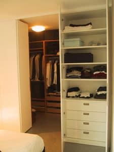 Cabina armadio per camera e ingresso, Armadio su misura per corridoio ed camera