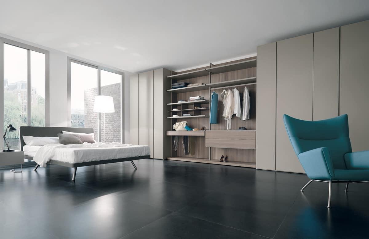Cabina armadio personalizzabile con mensole e appendiabiti - Appendiabiti per cabina armadio ...