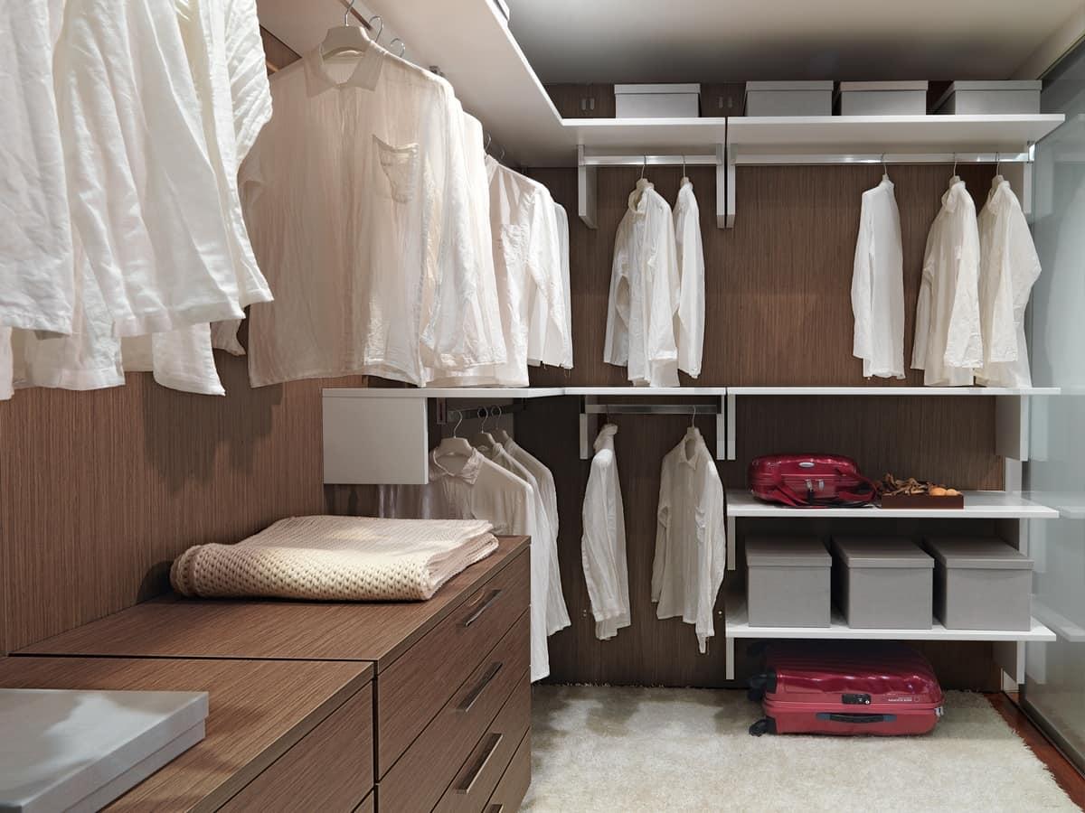 Cabina Keep Up 01, Cabina armadio pratica e modulare, per ville residenziali
