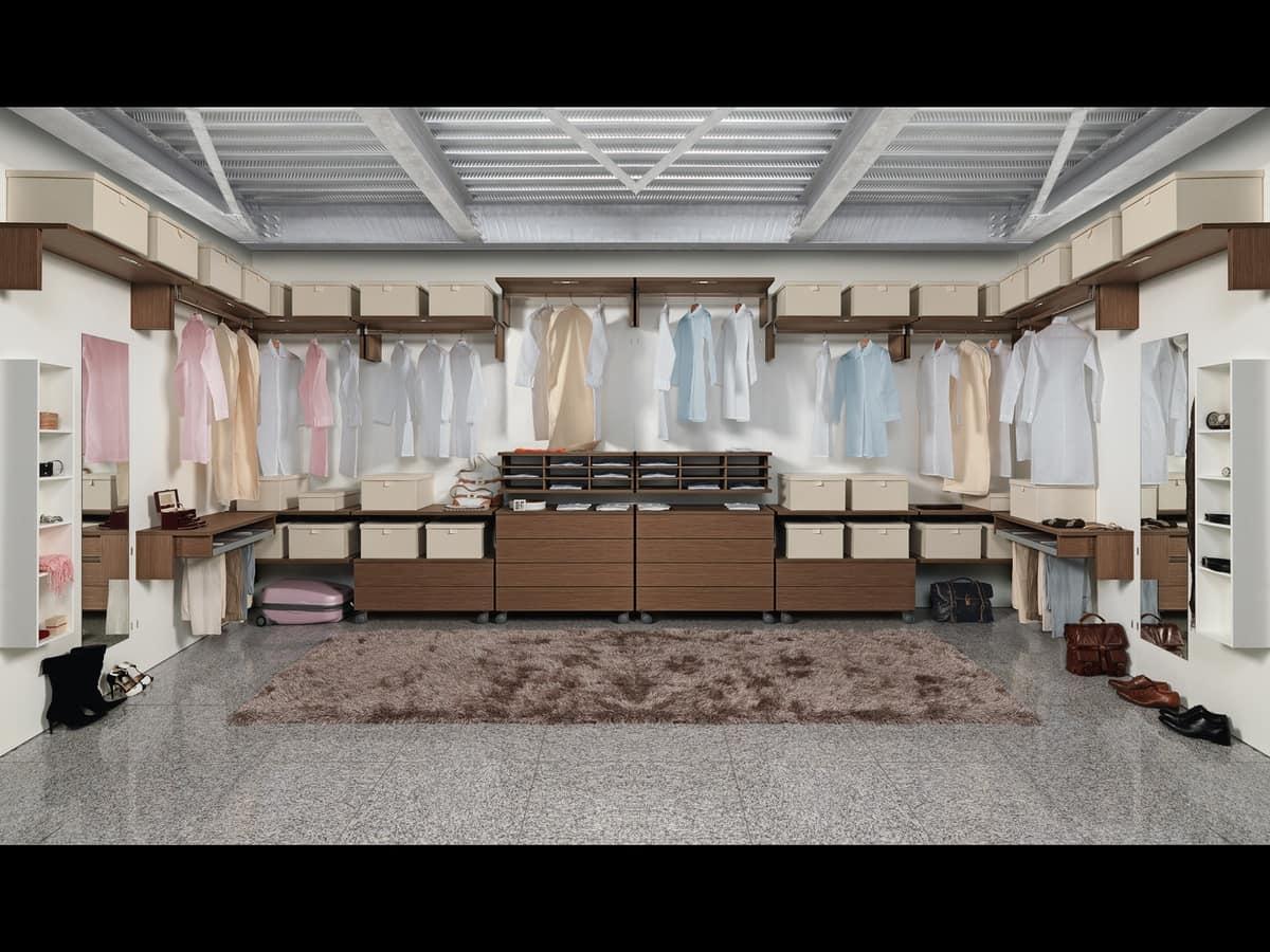 Cabina armadio componibile con vari accessori idfdesign - Accessori cabina armadio ...