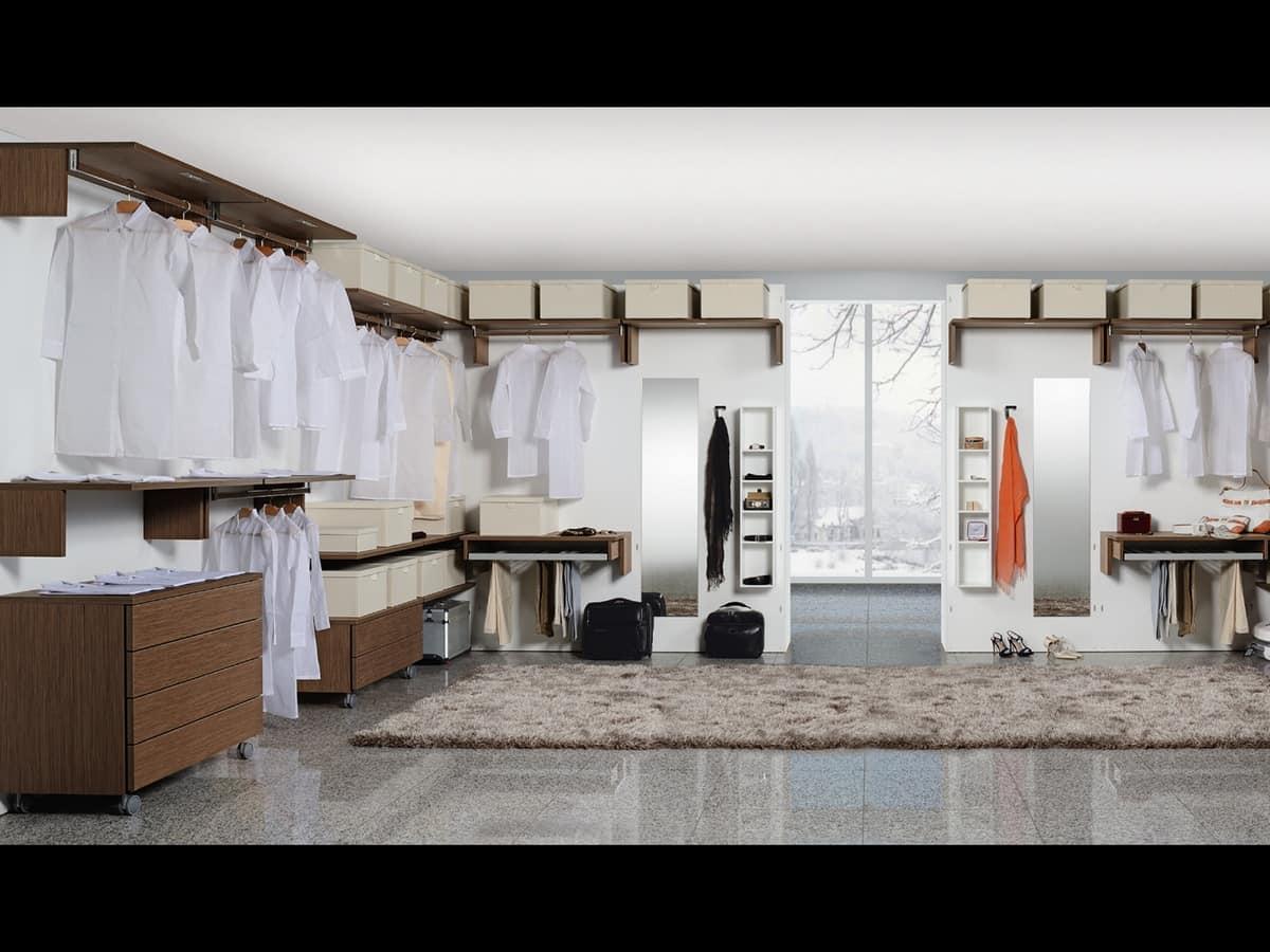 Luci Per Cabine Armadio : Cabina armadio funzionale con luci led per alberghi idfdesign
