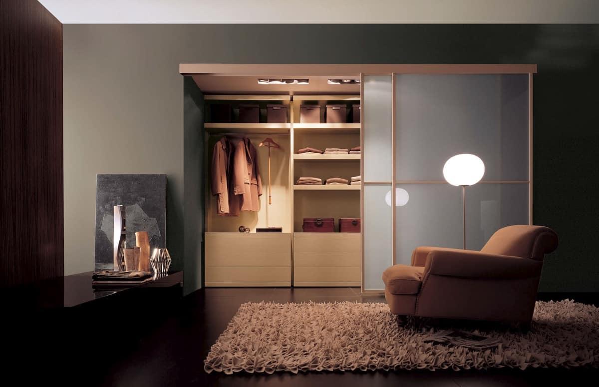 Cabina armadio con innovativo elemento angolare | IDFdesign