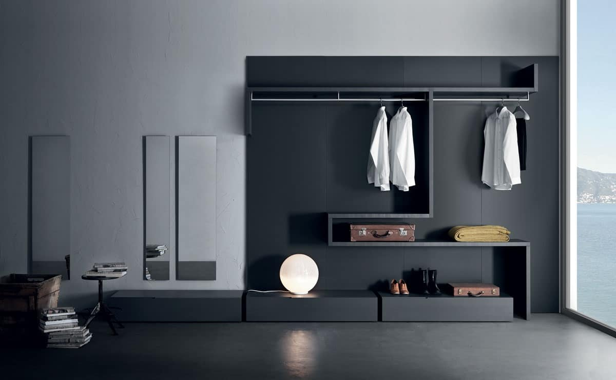 Cabina armadio funzionale e modulare varie finiture idfdesign - Mobili cabina armadio ...
