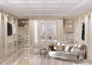 Walk-in closet 01, Cabina armadio personalizzabile in stile classico di lusso
