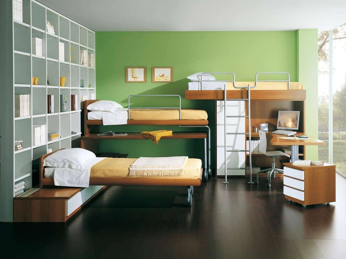 Camera da letto ragazzi idee di design nella vostra casa for Camera da letto e studio