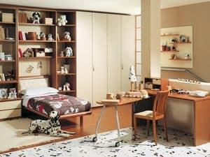 Camera Ragazzi 05, Camera da letto per ragazzi, customizzabile e innovativa