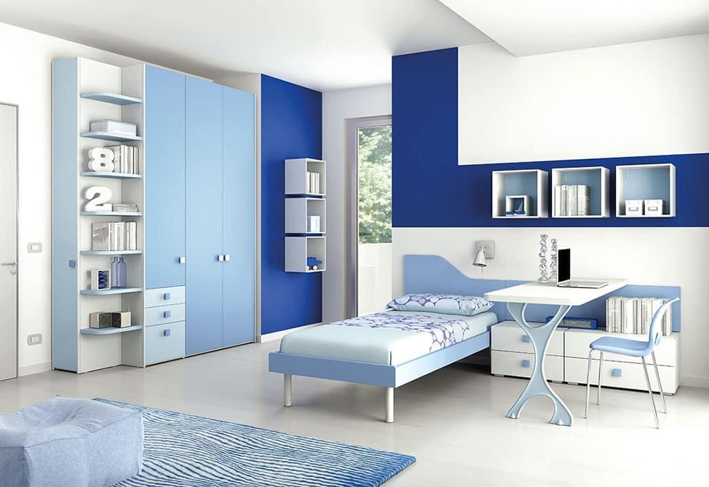 Cameretta moderna con mensole stondate idfdesign for Mensole moderne camera da letto
